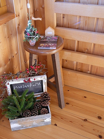 「木の家からメリークリスマス」