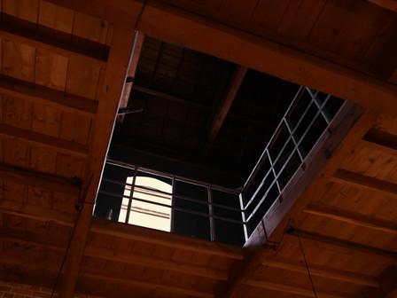 1号倉庫の1階天井