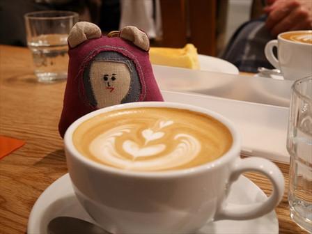 カフェラテと「つぶちゃん」