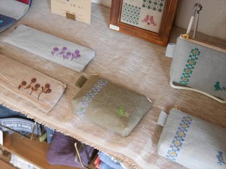 刺繍の布小物