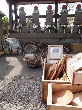 お地蔵さんと木工具