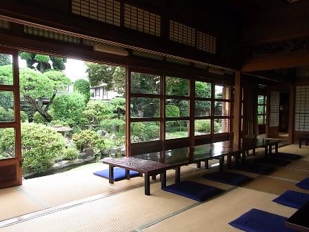 客室と庭園
