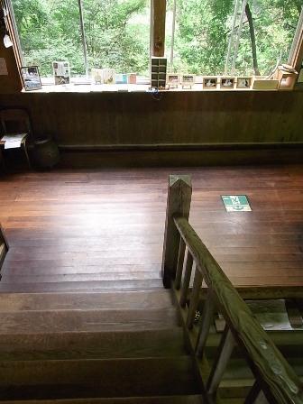 階段から…
